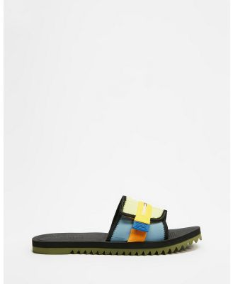 Tommy Hilfiger - Slip On Tech Sandals - Slides (Cobalt) Slip-On Tech Sandals