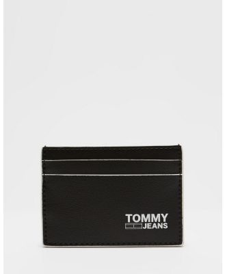 Tommy Jeans - Recycled Leather Cardholder - Wallets (Black) Recycled Leather Cardholder