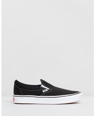 Vans - ComfyCush Classic Slip On Unisex - Slip-On Sneakers (Classic Black & True White) ComfyCush Classic Slip-On - Unisex
