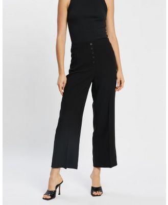 Vero Moda - Leah High Waisted Ankle Wide Pants - Pants (Black) Leah High-Waisted Ankle Wide Pants