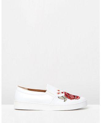 Vionic - Midi Slip on Sneakers - Slip-On Sneakers (White Floral) Midi Slip-on Sneakers