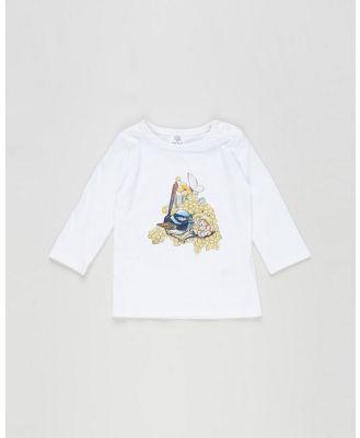 Walnut Melbourne - May Gibbs Leo Long Sleeve   Babies - T-Shirts & Singlets (Wattle Wren) May Gibbs Leo Long Sleeve - Babies