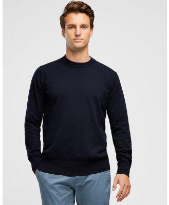 Wayver - Premium Crew Knit - Jumpers & Cardigans (Navy) Premium Crew Knit
