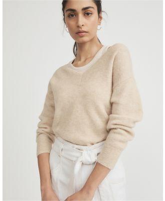 Witchery - Exposed Shoulder Lofty Knit - Jumpers & Cardigans (neutrals) Exposed Shoulder Lofty Knit