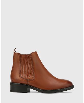 Wittner - Sheppard Leather Ankle Boots - Boots (Tan) Sheppard Leather Ankle Boots